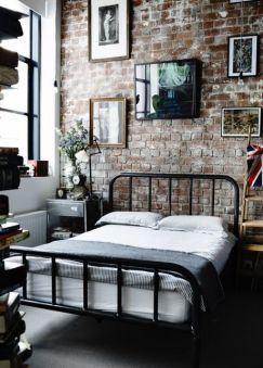 Industrial-exposed-brick-bedroom
