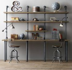 Metal-pipe-bookcase