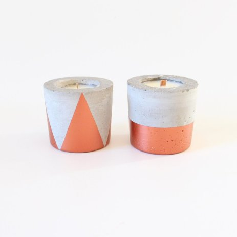 Geo Concrete Pot Candle from Collected $28.00