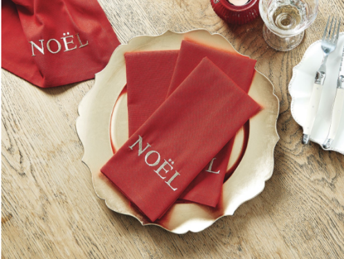 Traditional Noel Napkins from Bed, Bath & Table $19.95