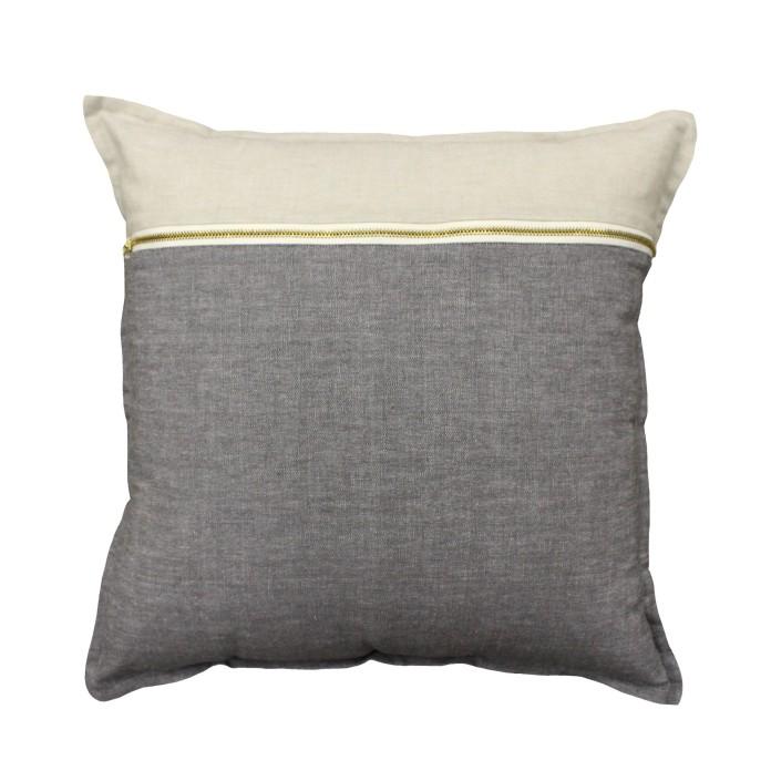 Cushion Bruno Zip Charcoal from ShutTheFrontDoor $65.00