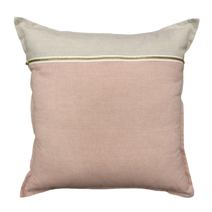 Cushion Bruno Zip Blush from ShutTheFrontDoor $65.00