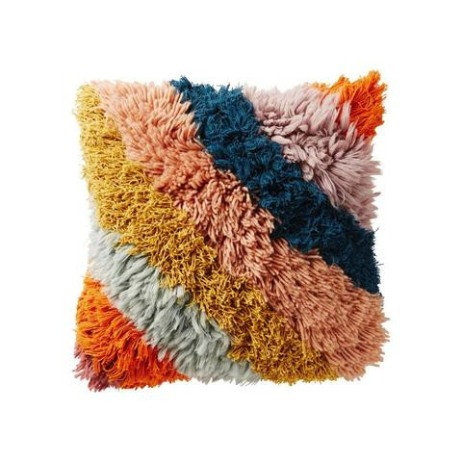 Geronimo Shag Cushion from ShutTheFrontDoor $219.00