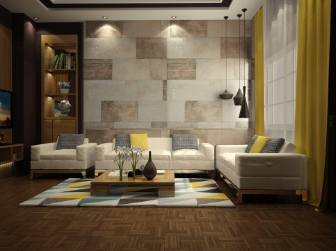 tiled-living-room-walls