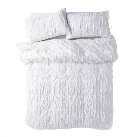 Cross-Pleat-Queen-Quilt-Cover-White-1