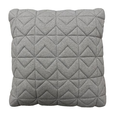 Casper Quilted Light Grey Box Cushions 50cm $99.00NZD