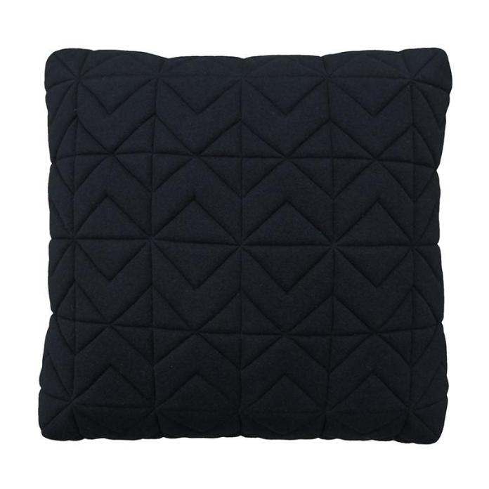 Casper Quilted Charcoal Box Cushion 50cm $99.00NZD