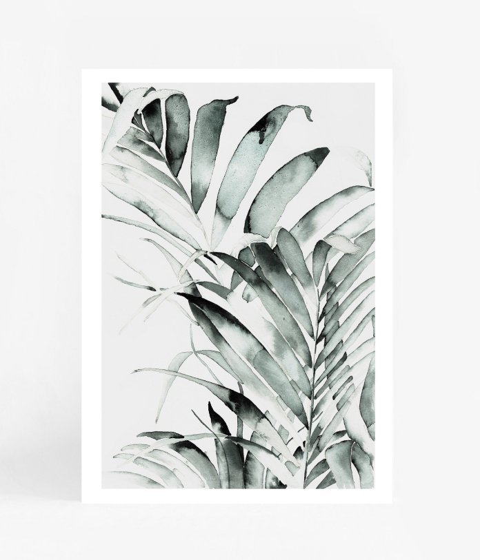 Cross Over Palms A3 Print $ 69.99